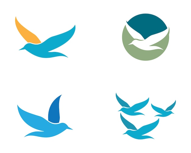 Modèle de logo seagull