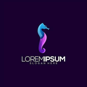 Modèle de logo seahorse premium