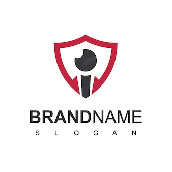 Modèle de logo sécurisé de bouclier