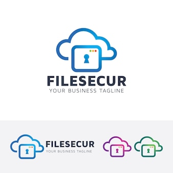 Modèle De Logo De Sécurité De Fichier Vecteur Premium