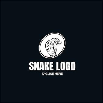Modèle de logo de serpent noir et blanc
