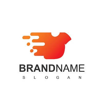 Modèle de logo de service de blanchisserie rapide