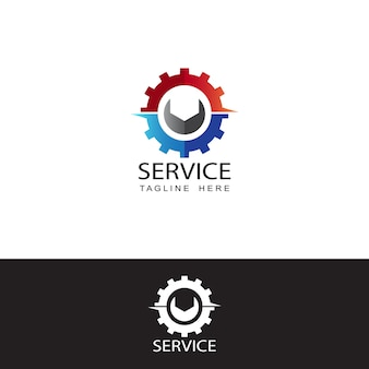 Modèle de logo de service gear