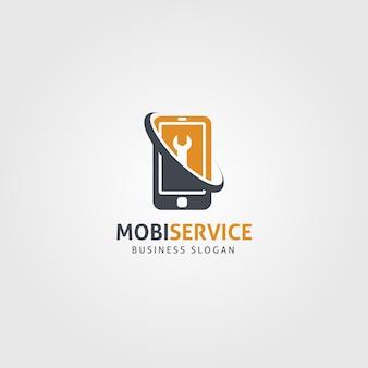 Modèle de logo de service mobile
