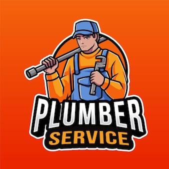 Modèle de logo de service de plombier