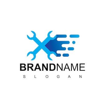 Modèle de logo de service rapide