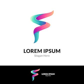 Modèle de logo simple lettre f