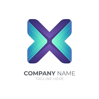 Modèle de logo simple lettre x
