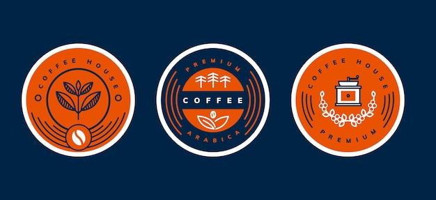 Modèle de logo simple et minimaliste de café
