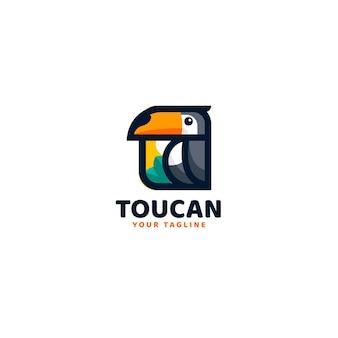 Modèle de logo simple toucan