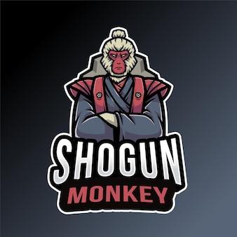 Modèle de logo de singe shogun