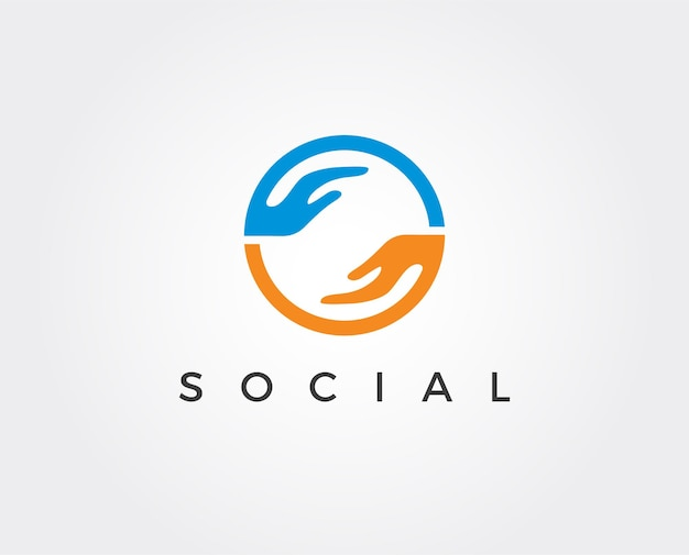 Modèle de logo social minimal