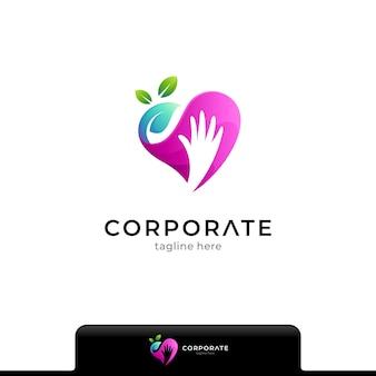 Modèle de logo de soins de santé