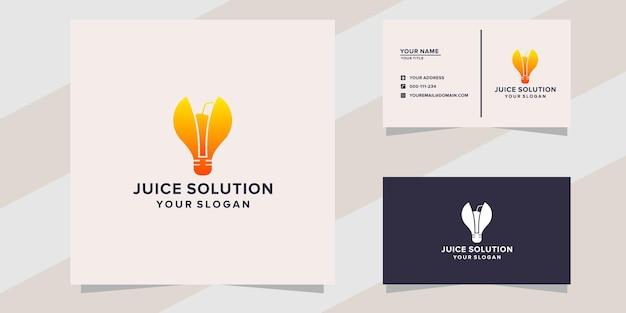 Modèle de logo de solution de jus