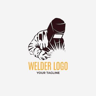 Modèle de logo de soudeur détaillé