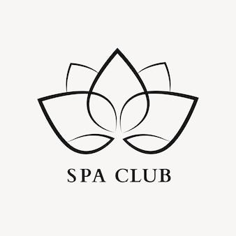 Modèle de logo de spa bien-être, vecteur de conception professionnelle de nature fleur