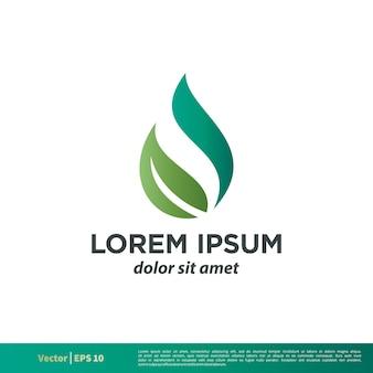 Modèle de logo spa green leaf