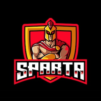 Modèle de logo sparta esport