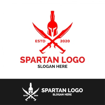 Modèle de logo spartan sword