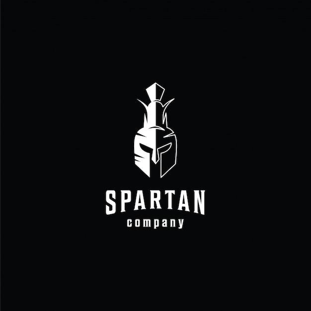 Modèle De Logo Spartiate Vecteur Premium
