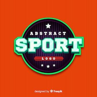 Modèle de logo de sport abstrait