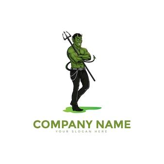 Modèle de logo sport diable et sport