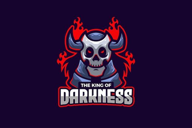 Modèle de logo de sport électronique le roi des ténèbres