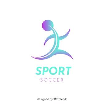 Modèle de logo de sport avec forme abstraite
