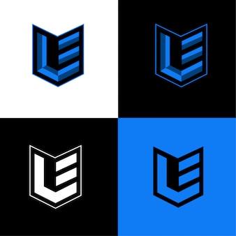 Modèle de logo sport initial