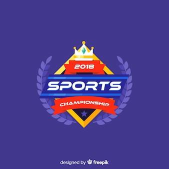 Modèle de logo sport moderne avec dessin abstrait