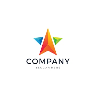 Modèle de logo star arrow