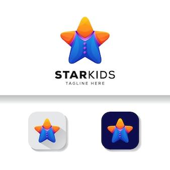 Modèle de logo star kids