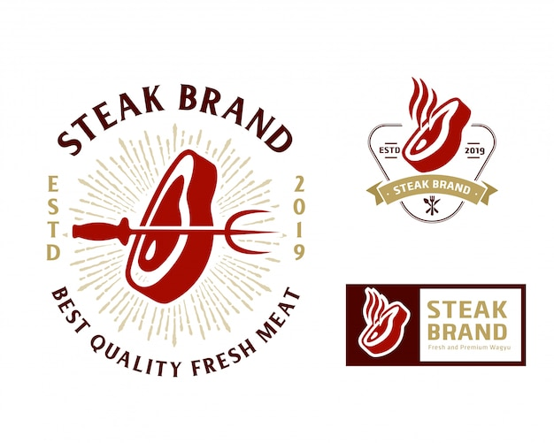 Modèle de logo steak store
