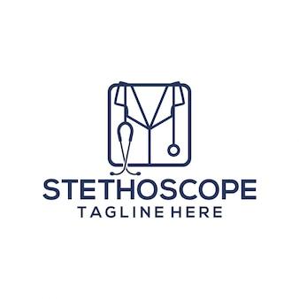 Modèle de logo stéthoscope
