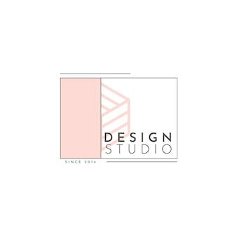 Modèle de logo de studio de conception