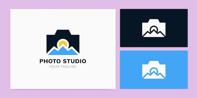 Modèle de logo de studio photo