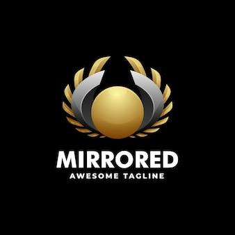 Modèle de logo de style coloré dégradé miroir