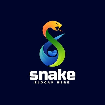 Modèle de logo de style coloré dégradé de serpent