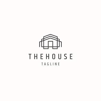 Modèle de logo de style maison maison
