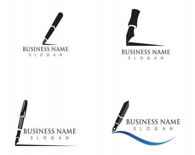 Modèle de logo de stylo entreprise d'illustration de vecteur