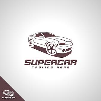 Modèle de logo de super voiture
