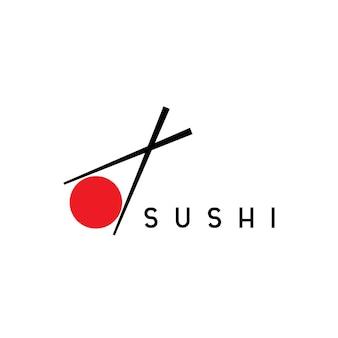 Modèle de logo de sushi