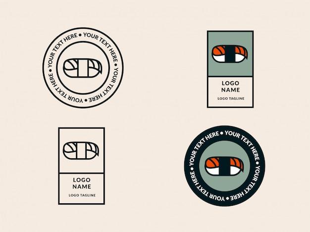 Modèle de logo sushi