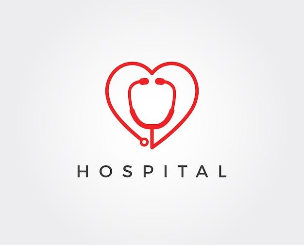 Modèle de logo et symboles de l'hôpital