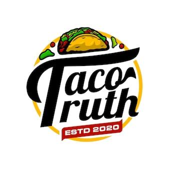 Modèle de logo de tacos
