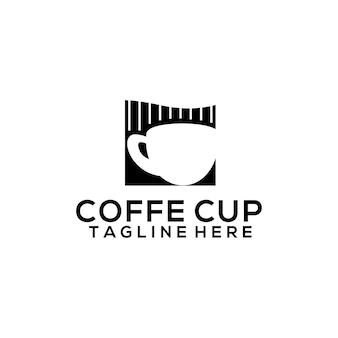 Modèle de logo de tasse à café pour café-café et restaurant. vecteur de concept de logo de café d'affaires