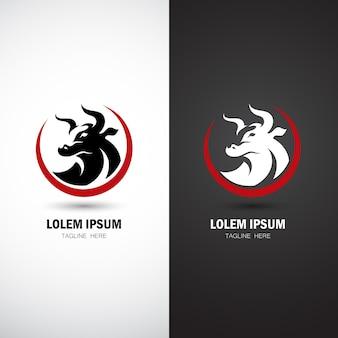 Modèle de logo de taureau moderne
