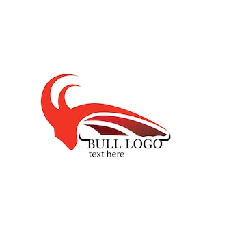 Modèle de logo de taureau