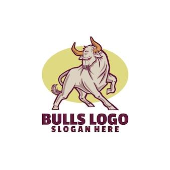 Modèle de logo de taureaux