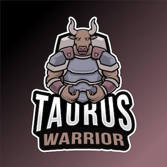 Modèle de logo taurus warrior